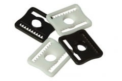 White and Black plastic clips