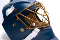 Assault - Matte Navy Blue With Gold Cage